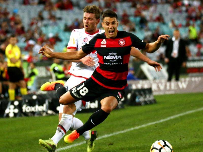Chris Ikonomidis (r) is the latest acquisition of A-League club Perth Glory.