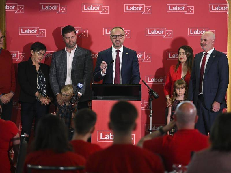 Chief Minister Andrew Barr has again led Labor to victory in the ACT.