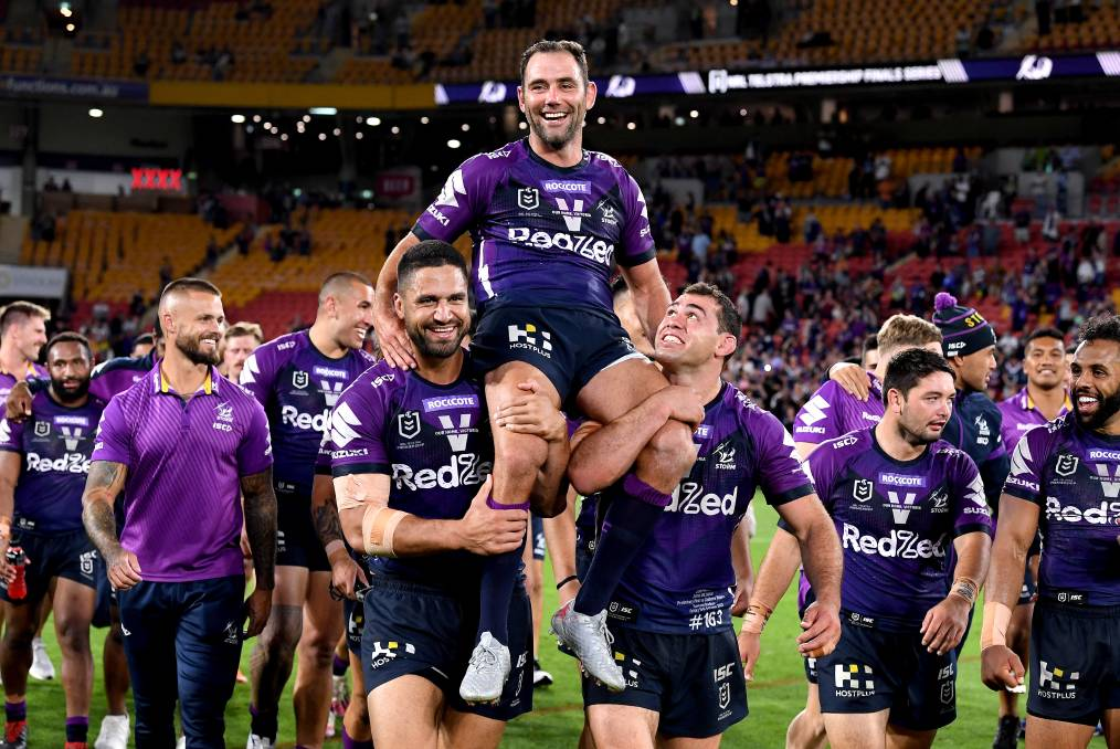 In skipper Cameron Smith, the Storm have arguably the most influential player ever. Photo by Bradley Kanaris/Getty Image